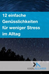 Genuss weniger stress